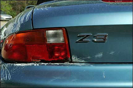 BMW Z3 Damage