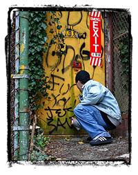 Graffiti Artist — I used the term artist loosely