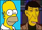 Homer Simpson and Mr. Spock