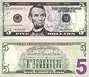 New Five Dollar Bill