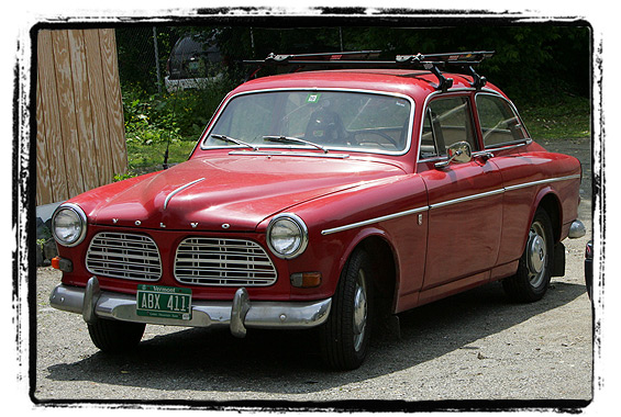 An old Volvo with Vermont plates.