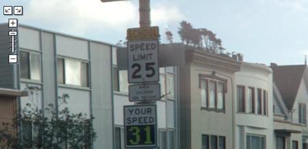 Speeding Google Street View Vehicle