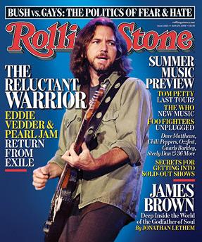 Eddie Vedder of the band Pearl Jam