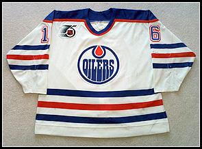 Game Worn Edmonton Oilers Jersey