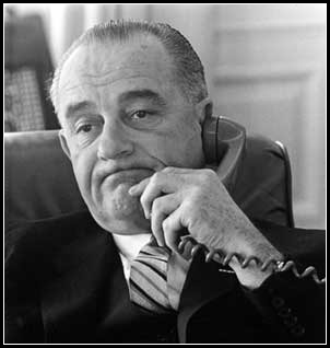 In acknowledgement of the DNC taking place this week, here's LBJ sitting on hold with customer service.