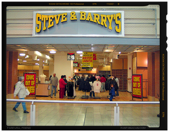 Farewell to Steve & Barry's