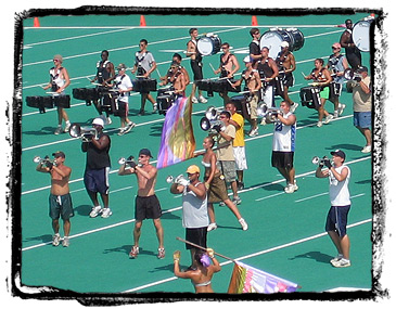 Drum Corps rehearsal
