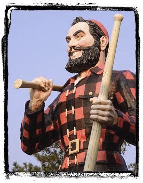 Paul Bunyan wasn't french.