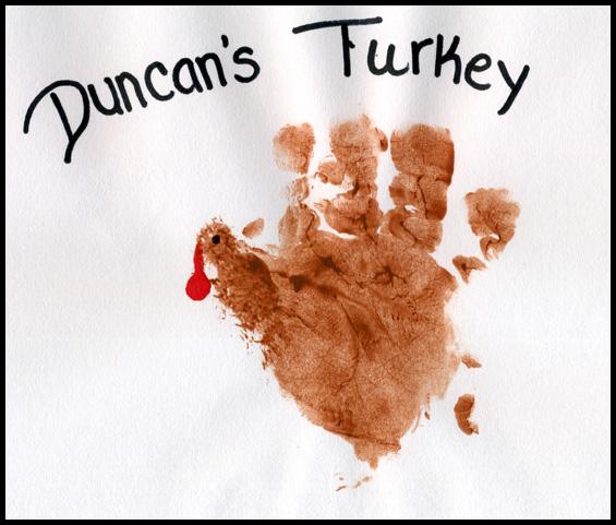 Duncan's hand turkey.