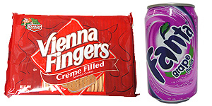 Vienna Fingers & Grape Fanta