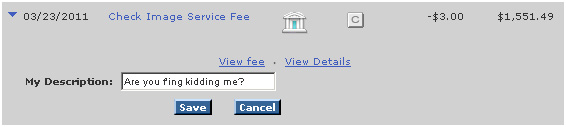 Bank of America Check Image Service Fee