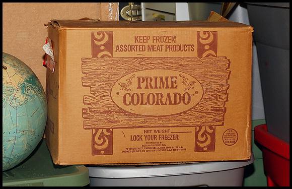 Why the box says Prime Colorado is a mystery...