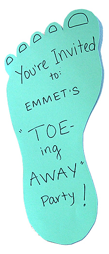 Toe-ing Away Party