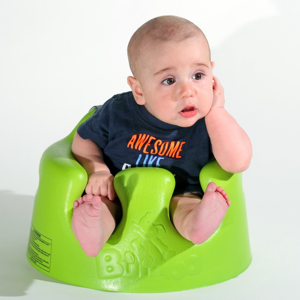 Baby in a Bumbo Seat