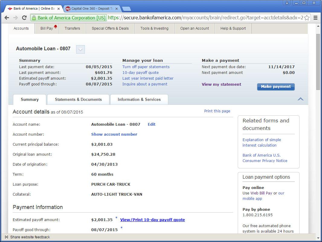Ten Day Payoff Car Loan